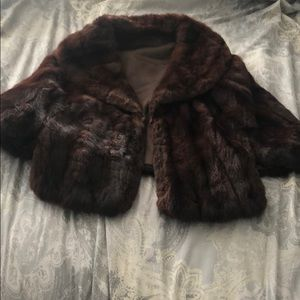 Mink jacket brown
